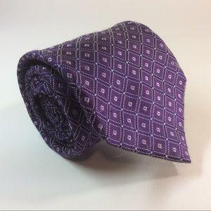 "Nordstrom purple diamond silk tie 60/3.5"""